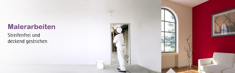 Malerarbeiten Bodenbelage Spanndecken Fassaden