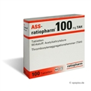 ASS ratiopharm 100mg Tabletten, 100 St.