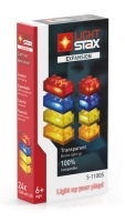 LIGHT STAX® Expansion Pack - Transparent - red, yellow, blue & orange  - LEGO®-kompatibel