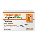 Paracetamol Ratiopharm 250Mg Zäpfchen, 10 Stück