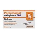 Paracetamol Ratiopharm 500Mg Zäpchen, 10 Stück