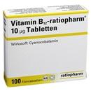VITAMIN B 12 ratiopharm 10 µg Filmtabletten